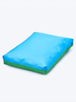 legowisko dla psa zielone niebieskie